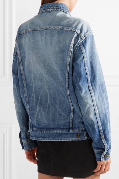 Saint Laurent Oversized-jeansjacke