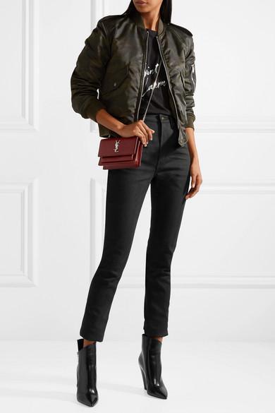 Saint Laurent Hoch sitzende Skinny Jeans