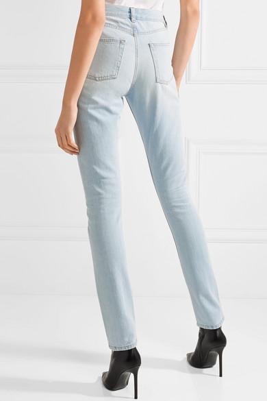 Saint Laurent Halbhohe Jeans mit schmalem Bein