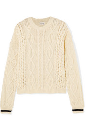 Saint Laurent Cable-knit wool sweater