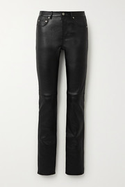 Saint Laurent Pantalon skinny en cuir stretch