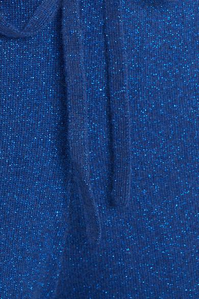 Allude Jogginghose aus einer Woll-Kaschmirmischung in Metallic-Optik