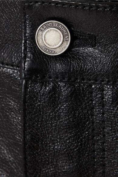 Saint Laurent Minirock aus Leder Verkauf Besten Platz Verkauf Sehr Billig Preise Und Verfügbarkeit Günstiger Preis KsXhnFtTJU