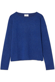 Metallic wool and cashmere-blend sweater