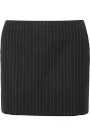 Saint Laurent Pinstriped wool mini skirt