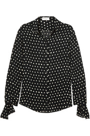 Saint Laurent Polka-dot chiffon shirt