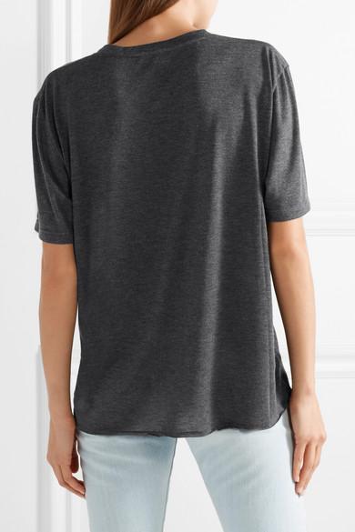 Saint Laurent Bedrucktes T-Shirt aus Jersey