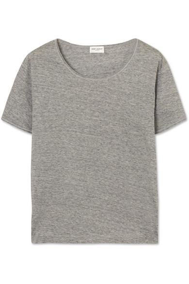 Saint Laurent Melange T-shirt In Cotton Jersey