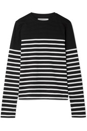 AAA Lean Lines striped cotton-jersey top