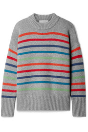 Marin striped wool and cashmere-blend sweater