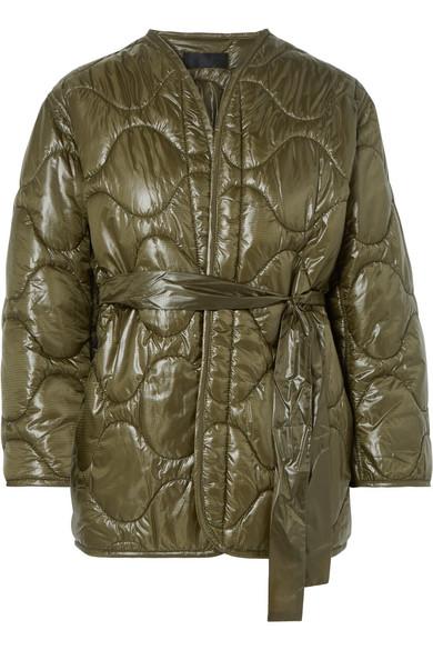 Nili Lotan - Varick Quilted Shell Jacket - Army green