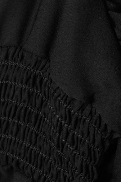 Nili Lotan Devon Bluse aus Seidenchiffon mit Ärmel-Cut-outs