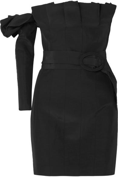 Carmen March Schulterfreies Minikleid aus Taft