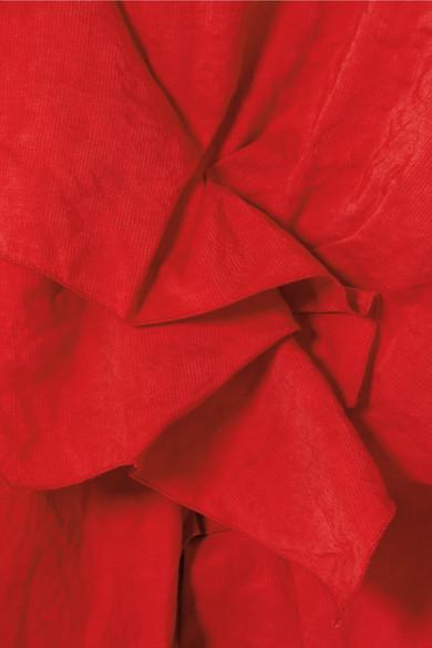 Carmen March Bluse aus Taft mit Rüschen