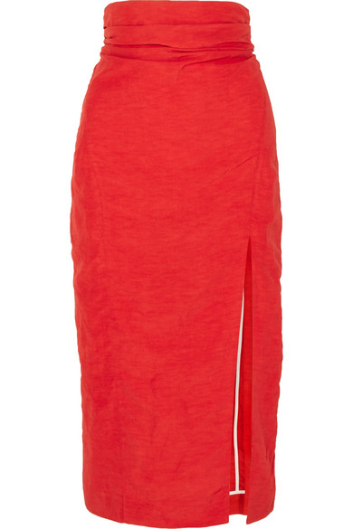 Taffeta Midi Skirt by Carmen March