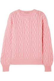 Emilia Wickstead Olive cable-knit merino wool sweater