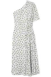 Emilia Wickstead Kyle one-shoulder floral-print crepe midi dress