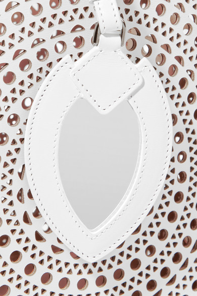 Alaïa Vienne Beuteltasche aus lasergeschnittenem Leder