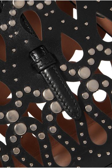 Alaïa Nietenverzierte lasergeschnittene Leder-Tote