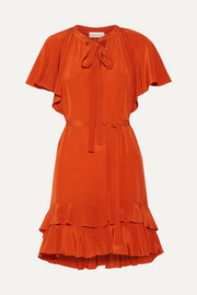 Zimmermann Flutter Smock ruffled silk crepe de chine mini dress