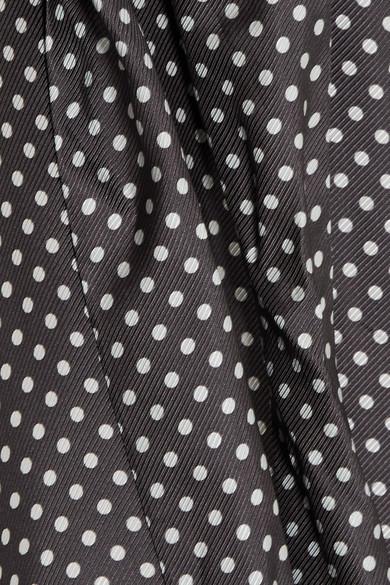 Zimmermann Minikleid aus Ottoman mit Polka-Dots, Rüschen und Cut-outs