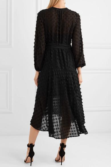 Zimmermann Confetti Kleid aus Chiffon mit Applikationen