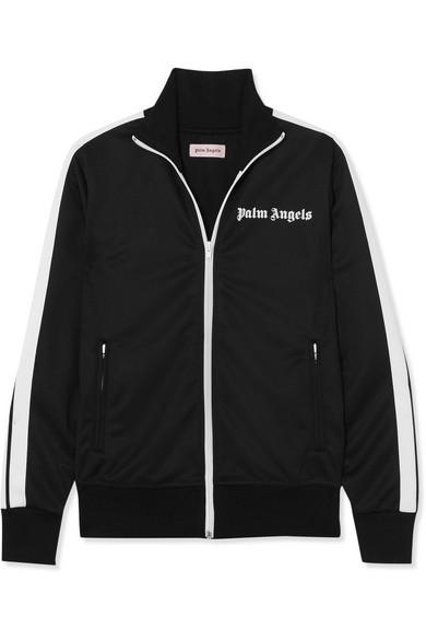 Palm Angels Trainingsjacke aus glänzendem Jersey mit Streifen