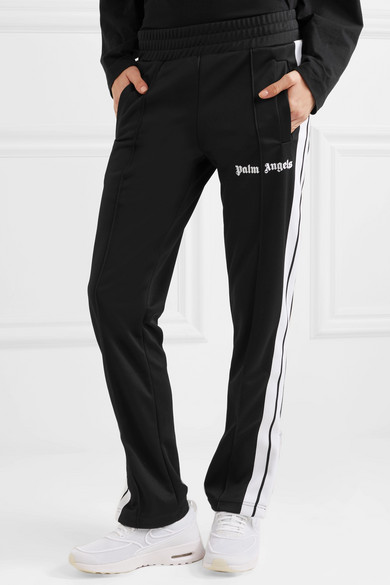 Striped Satin-jersey Track Pants - Black Palm Angels Shop For For Sale Low Price Fee Shipping Online New Arrival Geniue Stockist Online tNJYMrhw0r