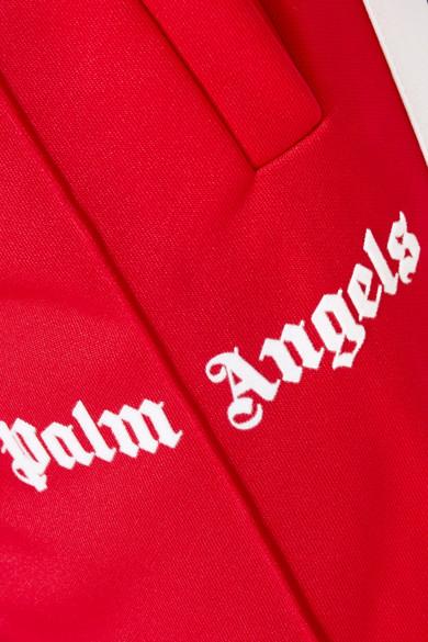Neue Art Und Weise Stil Professionel Palm Angels Jogginghose aus glänzendem Jersey mit Streifen Günstig Kaufen Breite Palette Von Verkauf Des Niedrigen Preises Online MyrkvfG3y
