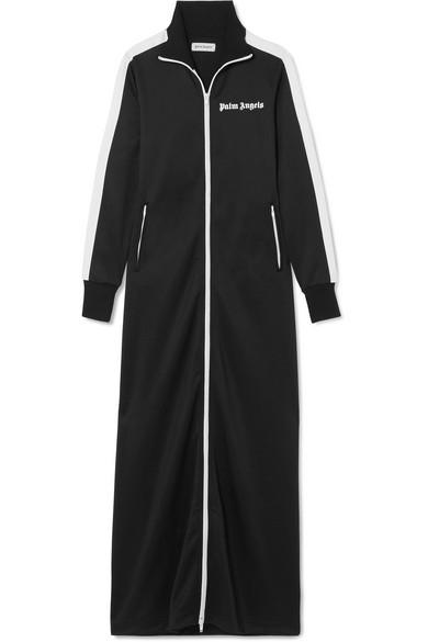 Palm Angels Jacke aus glänzendem Jersey mit Streifen