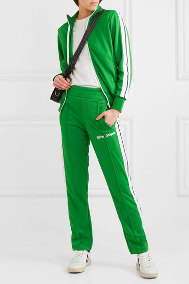 Palm Angels Jogginghose aus glänzendem Jersey mit Streifen