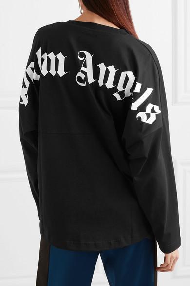Palm Angels Bedrucktes Oberteil aus Baumwoll-Jersey in Oversized-Passform