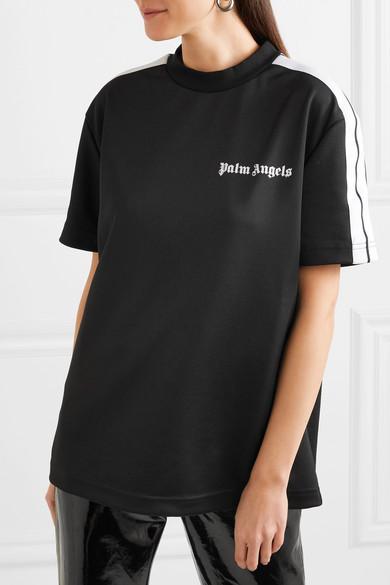 4527331b6fd Palm Angels | Striped satin-jersey T-shirt | NET-A-PORTER.COM