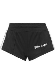 Palm Angels Striped satin-jersey shorts