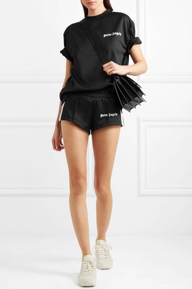 Palm Angels Shorts aus glänzendem Jersey mit Streifen