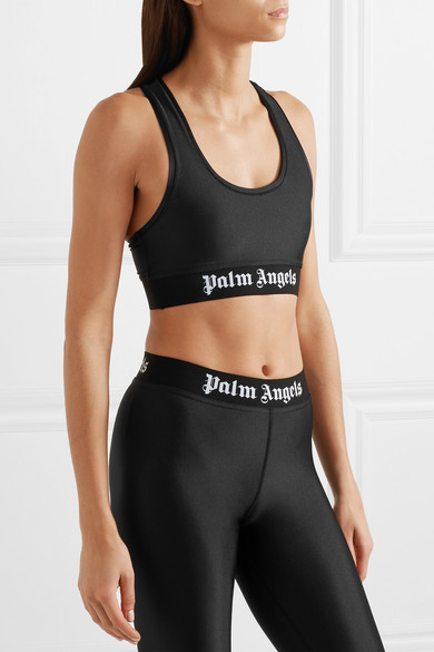 Palm Angels Sport-BH aus Stretch-Material