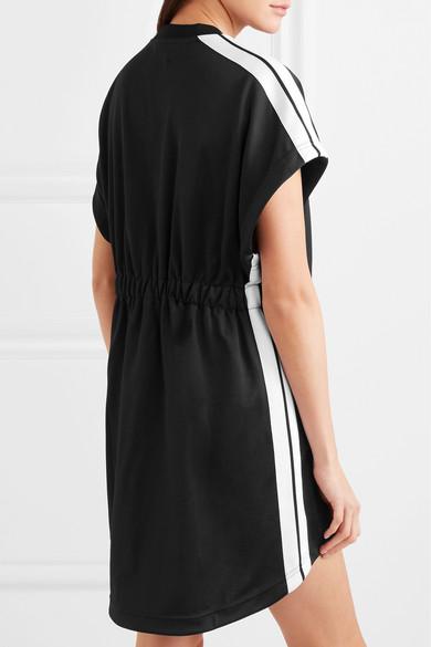 Palm Angels Minikleid aus glänzendem Jersey mit Streifen