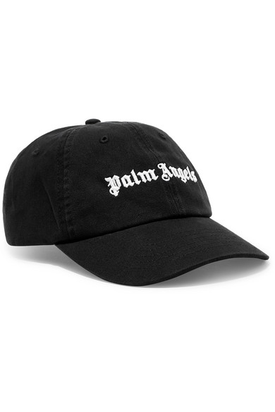 a167ab41b9c Palm Angels. Embroidered cotton-twill baseball cap