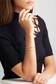 Hepburn 18-karat rose gold diamond bracelet