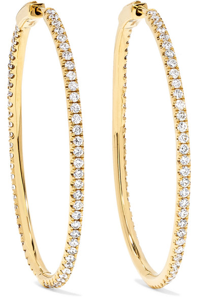 Anita Ko - Fonda 18-karat Gold Diamond Hoop Earrings