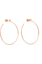18-karat rose gold diamond hoop earrings