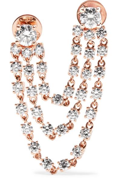 Anita Ko - Bianca 18-karat Rose Gold Diamond Earring