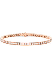 Serena 18-karat rose gold diamond bracelet