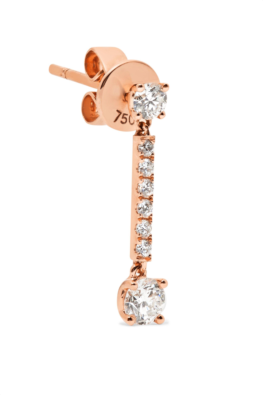 Anita Ko Boucles d'oreilles en or rose 18 carats et diamants Emma