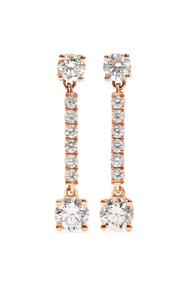 Anita Ko - Emma 18-karat Rose Gold Diamond Earrings
