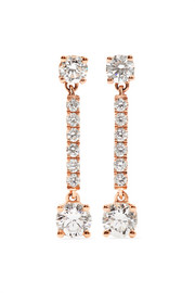 Emma 18-karat rose gold diamond earrings