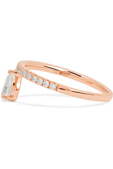 Anita Ko Duchess 18-karat Rose Gold Diamond Ring don2g4LC