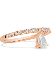 Dutchess 18-karat rose gold diamond ring