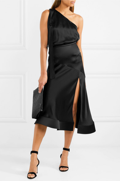 Esteban Cortazar Midi Skirt In Satin And Cady