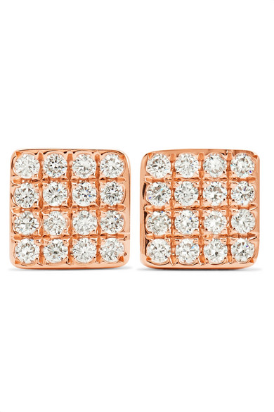 Anita Ko - Harlow 18-karat Rose Gold Diamond Earrings